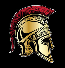 Gladiator Spartan Helmet Vector Illustration