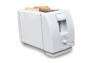 Toaster on white background