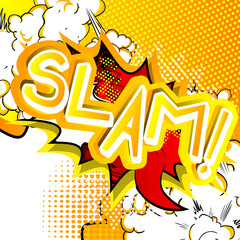 Slam! - Vector illustrated comic book style expression.