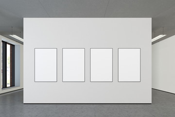 Blank poster in gallery