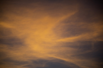 Yellow/blue sky