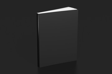 Blank soft color book standing