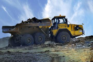 Big industrial tipper truck
