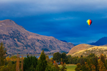 Canvas Prints New Zealand Hot air Balloon, Queenstown, New Zealand