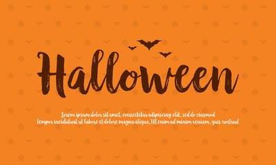 Background card Halloween celebration design