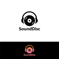 Sound Disk Logo Template Design