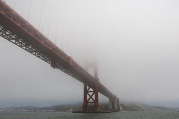 Bridge in Dense Fog
