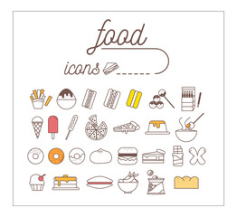 Food icon set infographic and illustration design.vector