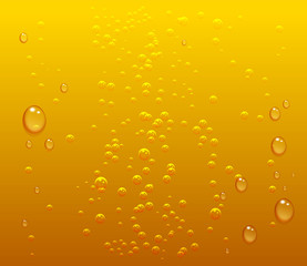 Dark beer drops and bubbles background