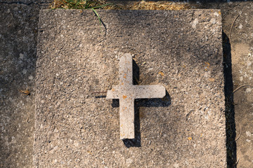 Simple latin cross from concrete