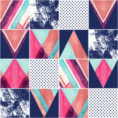 Abstract square seamless pattern.