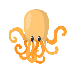 Vector cartoon octopus icon