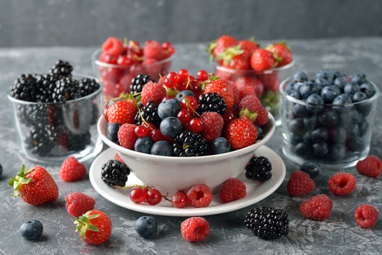 Salad of fresh forest berries
