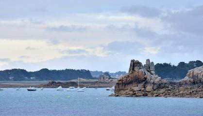 La pointe du voleur à Port-Blanc Penvénan en Bretagne