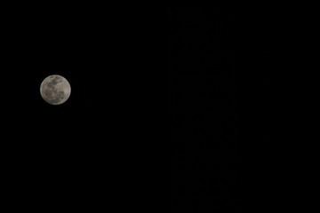 Moon in the Sky / Miami, Florida, USA