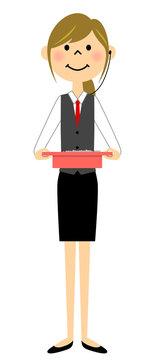 制服姿の女性 パチンコ