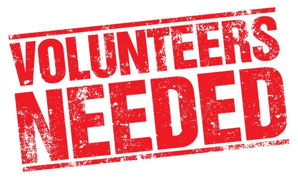 Volunteers Needed stamp