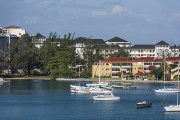 Jachten in Montego Bay auf Jamaica.