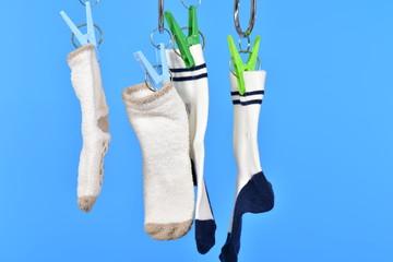 幼児用靴下を干すイメージ