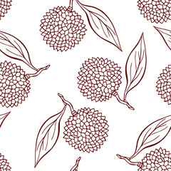 Pretty seamless pattern made of lichi.