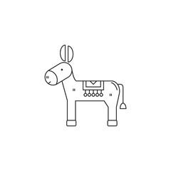 Donkey line icon