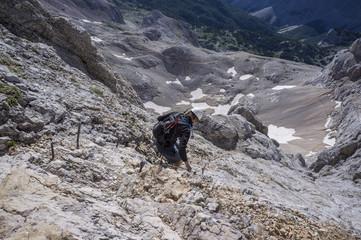 Climbing Mt Triglav, Julian Alps.