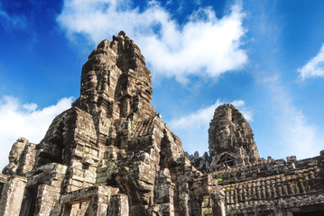 Angkor Thom, a UNESCO site, just outside Siem Reap, Cambodia, famous for its Hindu, now Buddhist, temple ruins