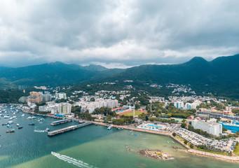 Aerial view of  Hong Kong Sai Kung District