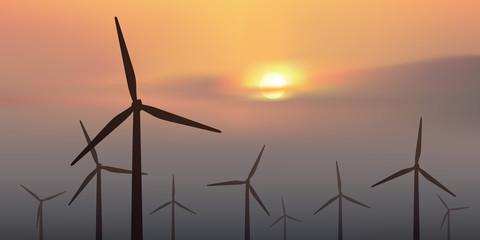 éolienne - énergie renouvelable - environnement - énergie - électricité - champ d'éoliennes