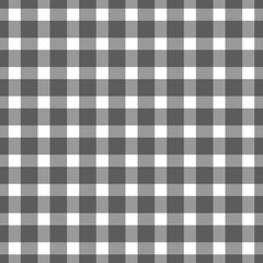 Seamless black colored checkered table cloth background. Vector illustration