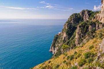 The beautiful Tyrrhenian Sea at the Amalfi Coast, Campania, Italy