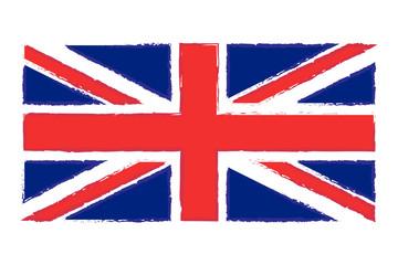 Flag of England. Isolated. White background.