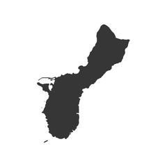 Guam map silhouette