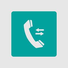 Phone icon. Flat design style. Feedback symbol.