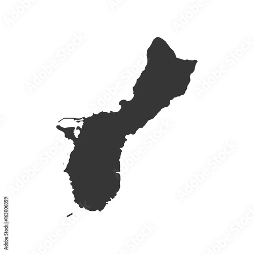 Guam Map Silhouette Stock Image And Royaltyfree Vector Files On - Map silhouette