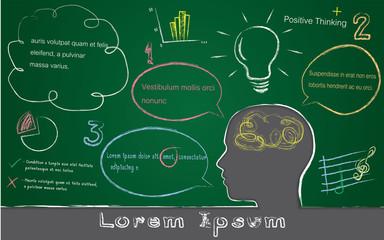 black board, lorem ipsum concept