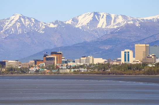 Anchorage Downtown Skyline