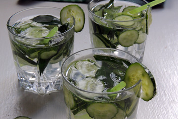 Sassi water with cucumber