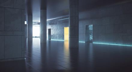 Dark hallway wiith daylight