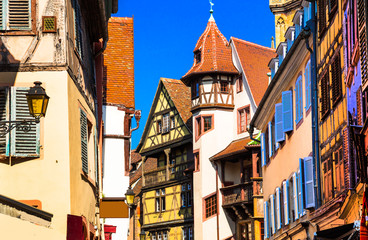 Fototapete - Kaysersberg - one of the most beautiful traditional villages of France, Alsace region