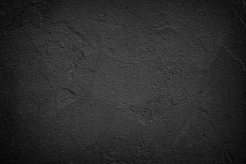 Dark plastered rough wall Grunge background
