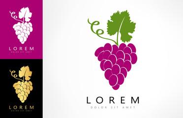 grapes logo Fototapete