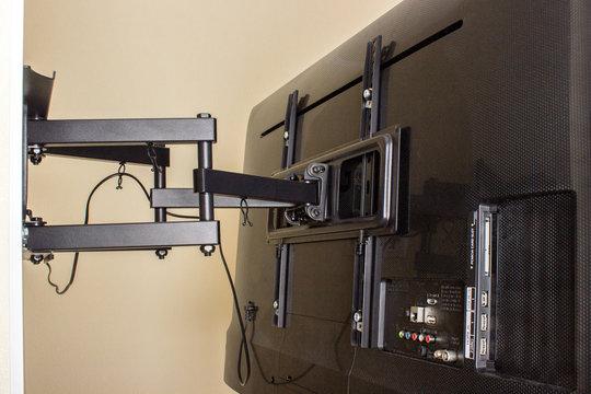 LCD display on the TV bracket. Swivel bracket for TV