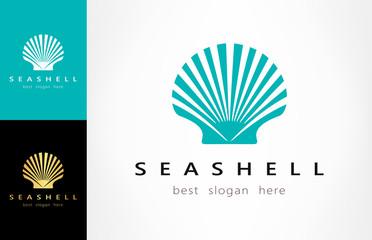 Shell Logo. Mollusk vector
