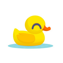 Rubber Duck Toy. Minimalistic duck cartoon Icon. Vector illustration