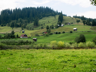 Landscape of Argel's Valley in Bucovina, Romania