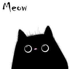 Cat vector, T-shirt Print, cartoon characters, cute cat