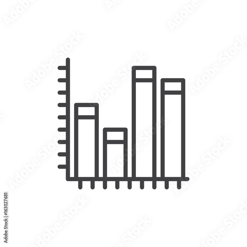 Graph chart line icon outline vector sign linear style pictogram graph chart line icon outline vector sign linear style pictogram isolated on white ccuart Images