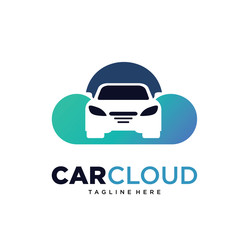 Car Cloud Logo Template Design Vector, Emblem, Design Concept, Creative Symbol, Iconn