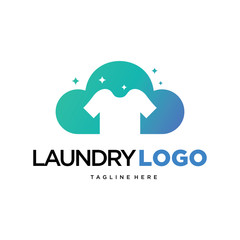Modern Laundry Logo Template Design Vector, Emblem, Design Concept, Creative Symbol, Icon